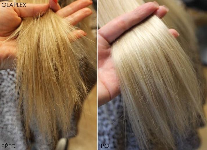 Odbarvení vlasů u kadeřníka